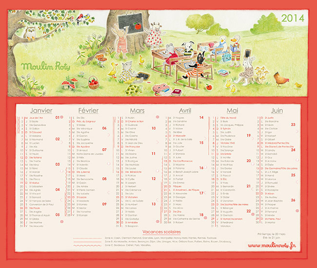 Calendrier Moulin Roty 2014